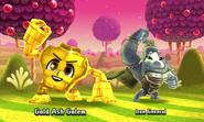 Fighting Gold Travelers Friend Golem
