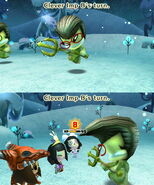 A Clever Imp attacking a Mii