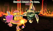 Cursed Armor attacks