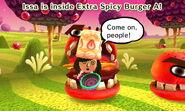 Kind Mii inside Extra Spicy Burger