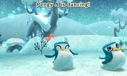 Pengy distracted