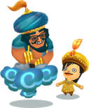 Genie and Prince from a Nearby Land official art