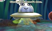 Giant UFO with guard down