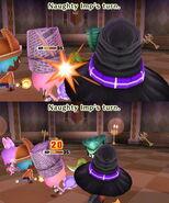 The Naughty Imp attacks