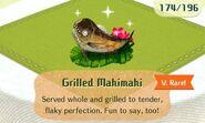 Grilled mahimahi