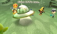 Giant UFO attacks