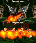 The Dragon using Fire Breath