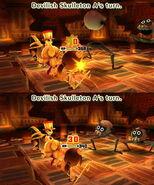 Devilish Skulleton attacks