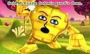 """Gold """"Traveler's Friend"""" Golem guard down"""