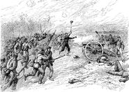 Charge of Confederates Upon Randol's Battery