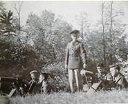 BMI Cadets train on machine guns in 1943