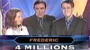 """Grande victoire de Frédéric dans """"qui veut gagner des millions ?"""" sur TF1 le 30 septembre 2000 !"""