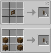 Post block crafting recipe update