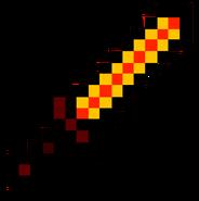 Fire diamond sword