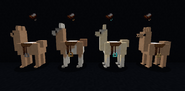 Vanilla style leather and cloth saddles