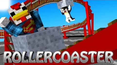Minecraft - Roller Coaster Mod Showcase! (Roller Coaster Tycoon, RollerCoaster, Amusement Park)