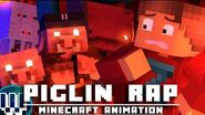 """""""We're The Piglin"""" PIGLIN RAP Minecraft Animated Music Video ( SystemZee )"""