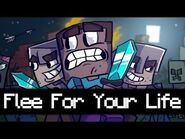 """♪ Flee For Your Life - A Minecraft Parody of """"Don't Stop Me Now"""" by Queen"""