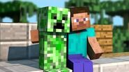 """Eminem """"The Monster"""" MINECRAFT PARODY - Friends With A Creeper"""