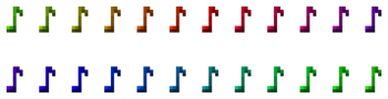 All music note colors