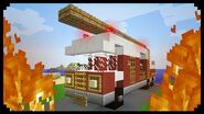 ✔ Minecraft How to make a Fire Truck