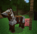Pig with horse