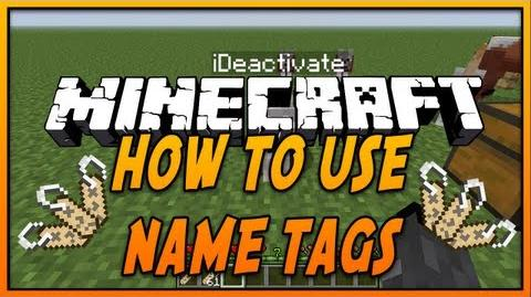 How to use Name Tags in Minecraft! (Minecraft 1.7