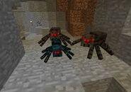 Dwa pająki i jeden jaskiniowy