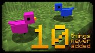 ✔ Minecraft 10 Things That Were Never Added (III)
