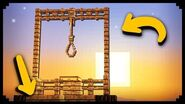 ✔ Minecraft How to make a Working Gallows