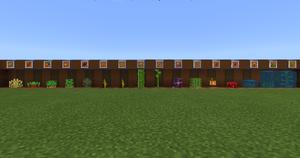Plantações do Minecraft.