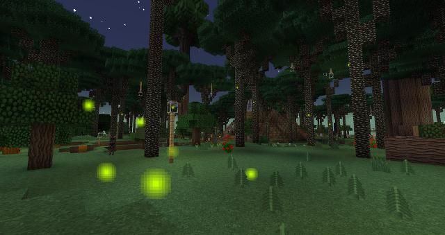Ein Glühwürmchenwald