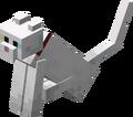 Gato Blanco con collar rojo sentándose.png