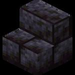 Escalier en pierre noire taillée.png
