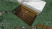 Slab in front of chest