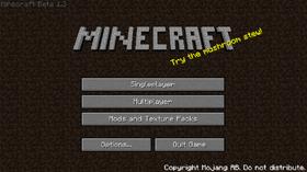 Beta 1.3 menu.png