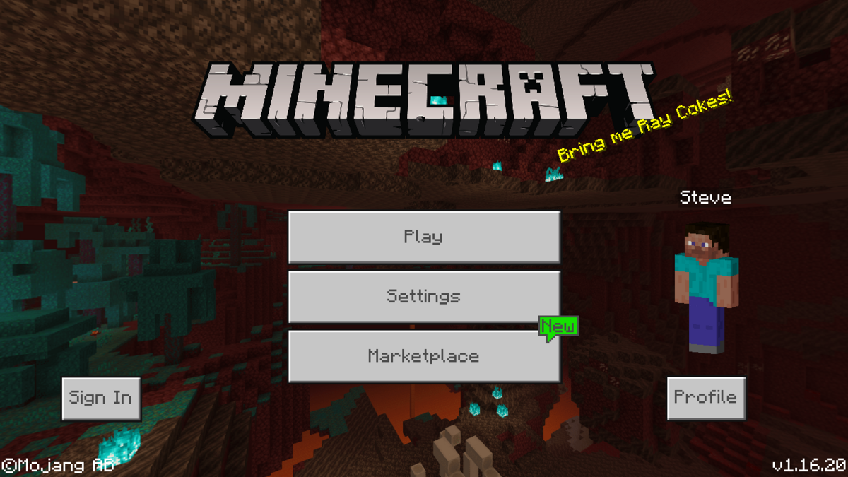 Bedrock Edition 1 16 20 Official Minecraft Wiki