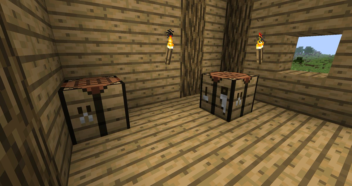 New default plank texture and edited logs! : Minecraft