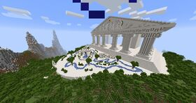 A building based on a Greek acropolis.