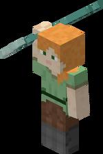 Minecraft Trident 33 in environ 83.82 cm long Tridente