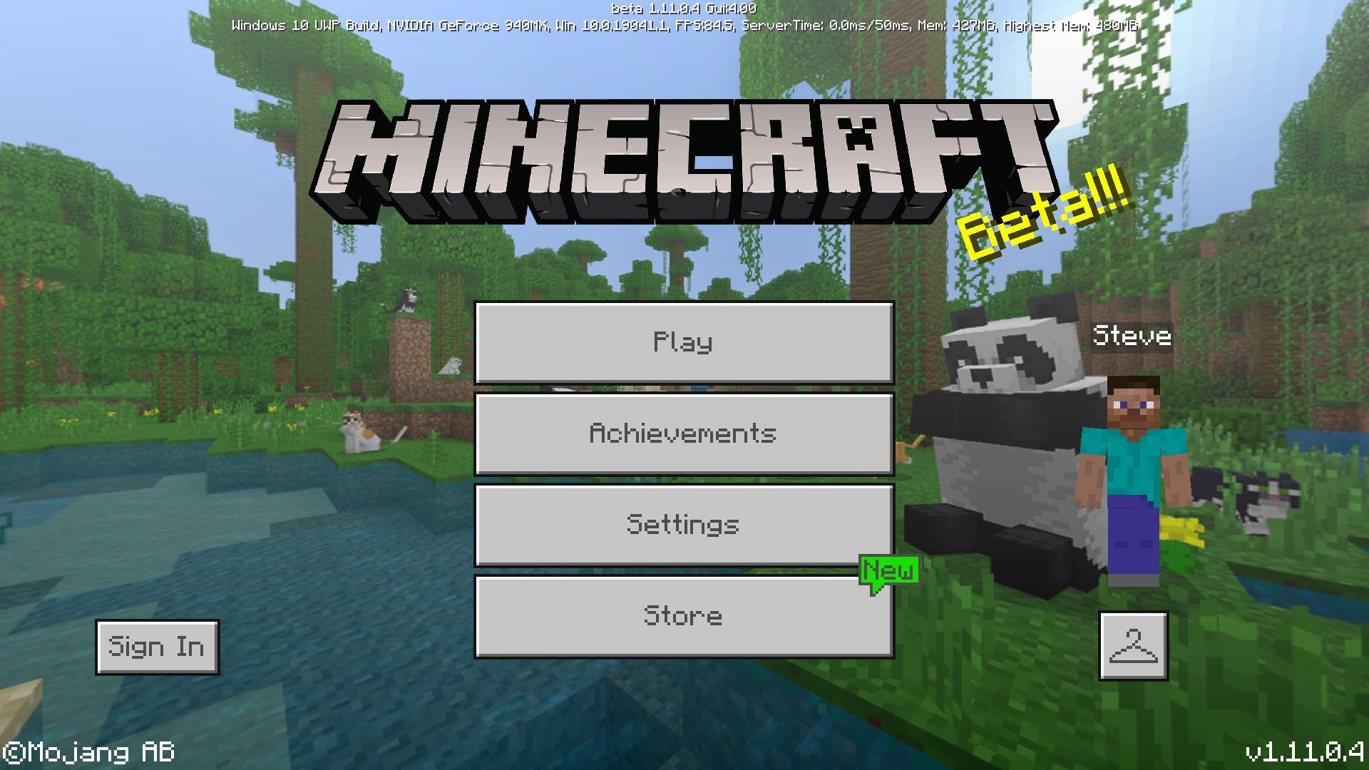 Bedrock Edition beta 1 11 0 4 Official Minecraft Wiki