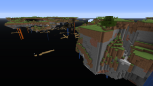 An example of a floating islands world type world.