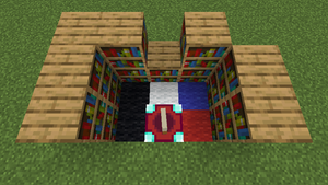 Enchantment table bookshelf placement.png