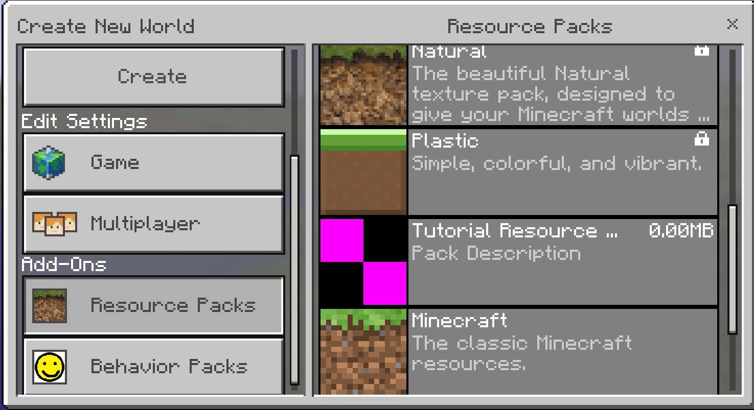 Tutorials Creating Resource Pack Add Ons Official Minecraft Wiki