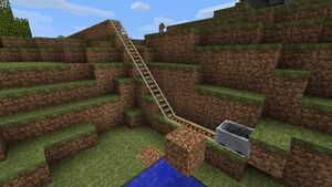 The maximum height a cart can gain unboosted in beta 1.5 is 6 blocks.