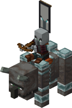 Ravager Rider (Pillager) with Ominous Banner.png