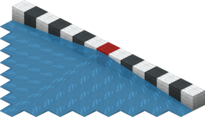 An image showing water's spreading distance