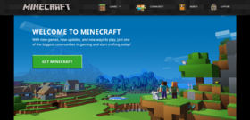 Minecraft.net homepage 2019.png