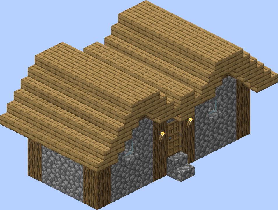 Village  Structure  Blueprints  Plains Medium House 2 Blueprint  U2013 Official Minecraft Wiki