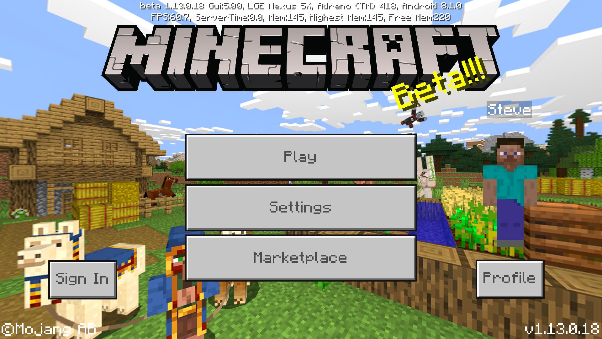 Bedrock Edition beta 1 13 0 18 Official Minecraft Wiki